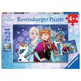 Ravensburger Puzzle - Frozen - Nordlichter, 2x24 Teile