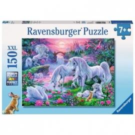 Ravensburger Puzzle - Einhörner im Abendrot, 150 XXL-Teile