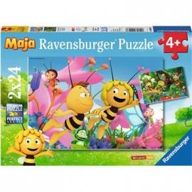 Ravensburger Puzzle - Die kleine Biene Maja, 2x24 Teile