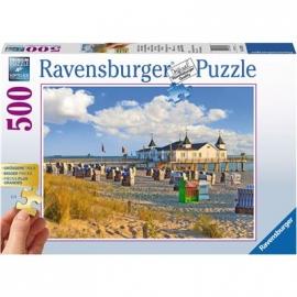 Ravensburger Puzzle - Strandkörbe in Ahlbeck, 500  XXL-Teile