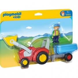 PLAYMOBIL® 6964 - 1 2 3 PLAYMOBIL®® - Traktor mit Anhänger