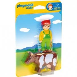 PLAYMOBIL® 6972 - 1 2 3 PLAYMOBIL®® - Bauer mit Kuh