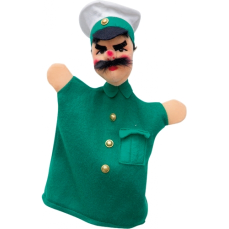 Polizist, grün