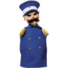 Polizist, blau