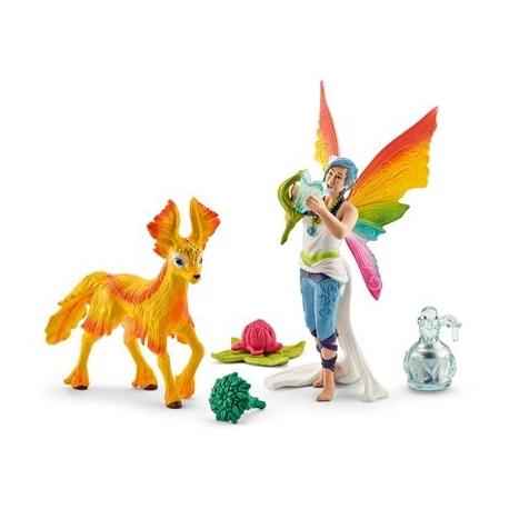 Schleich - World of Fantasy - Bayala - Elfe - Regenbogenelfe Dunya mit Fohlen