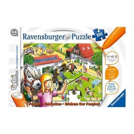 Ravensburger Spiel - tiptoi - Puzzeln - Entdecken - Erleben: Der Ponyhof, 100 Teile
