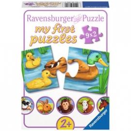 Ravensburger Puzzle - my first Puzzle - Liebenswerte Tiere, 9x2 Teile