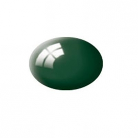 Revell - Aqua Color moosgrün, glänzend, 18 ml