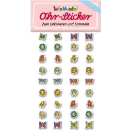 Ohr-Sticker Schmetterling