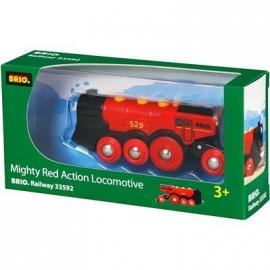 BRIO Bahn - Rote Lola Batterielok