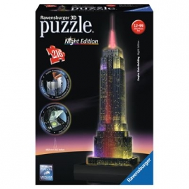Ravensburger Puzzle - 3D Vision Puzzle - Empire State Building bei Nacht, 216 Teile