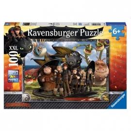Ravensburger Puzzle - Ohnezahn und seine Freunde, 100 XXL-Teile