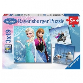Ravensburger Puzzle - Abenteuer im Winterland, 3 x 49 Teile