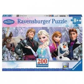 Ravensburger Puzzle - Panorama Puzzle - Arendelle im ewigen Eis, 200 XXL-Teile