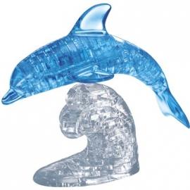 Jeruel Industrial - Crystal Puzzle Delfin, blau