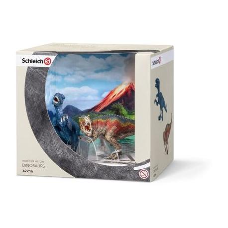 Schleich - Dinosaurier - Die kleinen Dinos - T-Rex/Velociraptor Mini