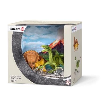 Schleich - Dinosaurier - Die kleinen Dinos - Triceratops/Therizinosau