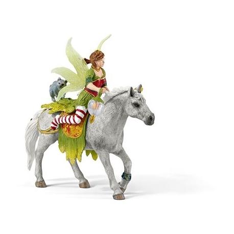 Schleich - World of Fantasy - Elfen - Marween in festlicher Kleidung, reitend