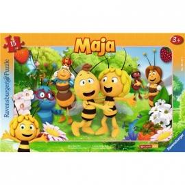 Ravensburger Puzzle - Rahmenpuzzle - Biene Majas Welt, 15 Teile