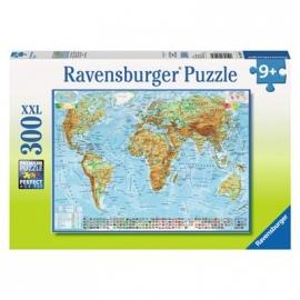 Ravensburger Puzzle - Politische Weltkarte, 300 XXL-Teile