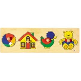 goki 57998 Steckpuzzle Spielzeug