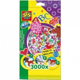 SES Creative - Bügelperlen 3.000 Stck. Girly Mix