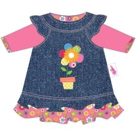 Zapf Creation - Dolly Moda Jeanskleid 38-46 cm