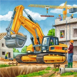 Ravensburger Puzzle - Große Baufahrzeuge, 3 x 49 Teile