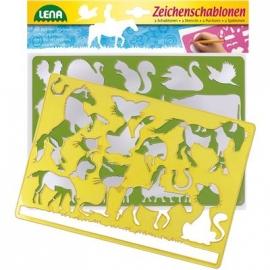 Lena - Pre School - Zeichenschablonen Pferde und Katzen