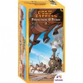 Ludonaute - Colt Express - Postkutsche und Pferde