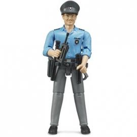BRUDER bworld - Polizist mit hellem Hauttyp und Zubehör