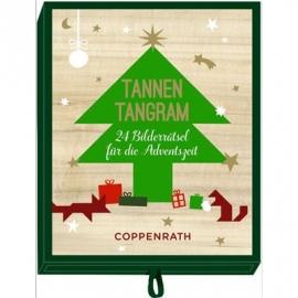 Coppenrath - Adventszeit - Schachtelspiele - Tannen-Tangram - 24 Bilderrätsel