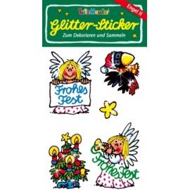 Weih-Glitter-Sticker Engel 2