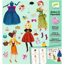 Djeco - Sticker und Puppen: Massive fashion
