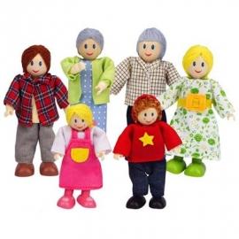 Hape - Puppenfamilie - Helle Hautfarbe