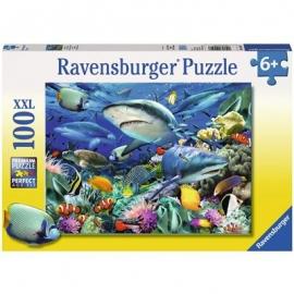 Ravensburger Puzzle - Riff der Haie, 100 Teile