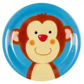 Die Spiegelburg - Kleiner Melamin-Teller Affe Freche Rasselbande
