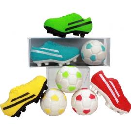 Radierer Fußball Set, 4-fach sortiert