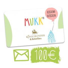 Gutschein für unser Geschäft MuKK, welcher mit Post versandt wird.