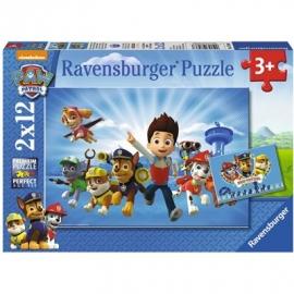 Ravensburger Puzzle - Paw Patrol - Ryder und die Paw Patrol, 2x12 Teile