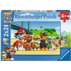 Ravensburger Puzzle - Heldenhafte Hunde, 2x24 Teile