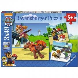Ravensburger Puzzle - Paw Patrol - Team auf 4 Pfoten, 3x49 Teile
