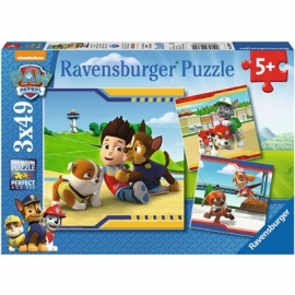Ravensburger Puzzle - Helden mit Fell, 3x49 Teile