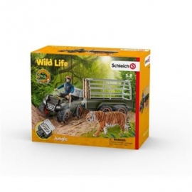 Schleich - World of Nature - Wild Life - Dschungel - Quad mit Anhänger und Ranger