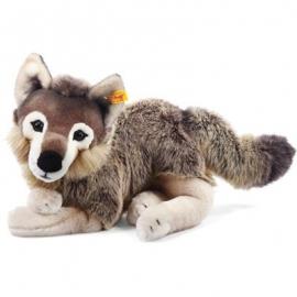Steiff - Kuscheltiere - Wildtiere - Snorry Schlenker-Wolf, grau/braun, 40cm