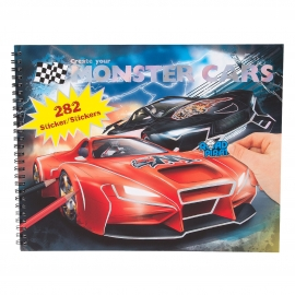 Create your Monster Cars-Malbuch m Stick