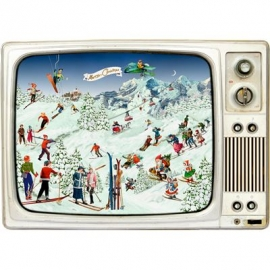 Coppenrath Verlag - Advents-Retro-TV, Wand-Adventskalender A3-Format