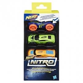 Hasbro - Nerf Nitro Soft Racer 3er Pack