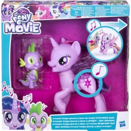 Hasbro -  My Little Pony Movie Prinzessin Twilight Sparkle & Spike, der Drache Singendes Duo
