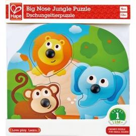 Hape - Knopfpuzzle Dschungeltiere, 4 Teile